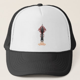 6th Dimension Rocket Ship Trucker Hat Baseball Cap