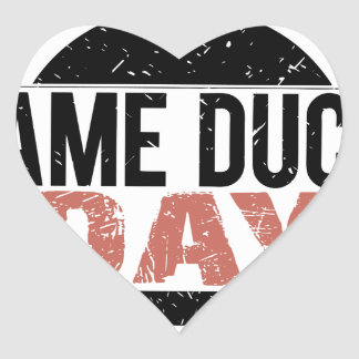 6th February - Lame Duck Day Heart Sticker
