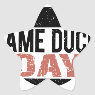 6th February - Lame Duck Day Star Sticker