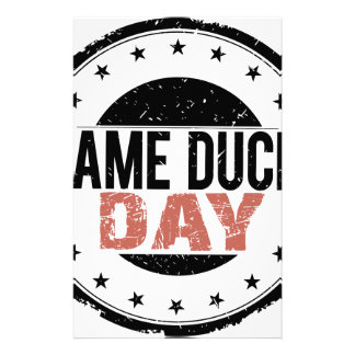 6th February - Lame Duck Day Stationery