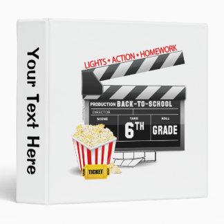 6th Grade Movie Clapboard Binders