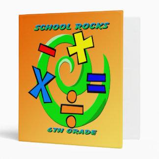 6th Grade Rocks - Math Symbols  Binder