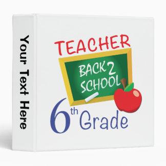 6th Grade Teacher 3 Ring Binder