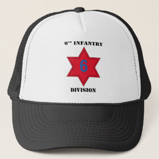 6th infantry Division W/Text Trucker Hat