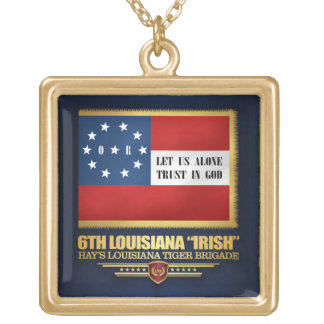 "6th Louisiana ""Irish"" Infantry Gold Plated Necklace"