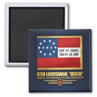 "6th Louisiana ""Irish"" Infantry Square Magnet"