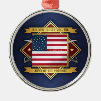 6th New Jersey Volunteers Metal Ornament