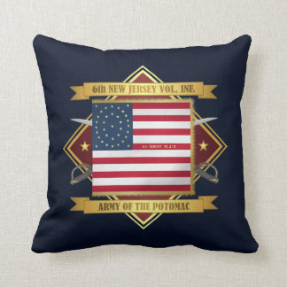 6th New Jersey Volunteers Throw Pillow