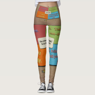 6th Quote; The 4 Rules of How to do Something Leggings