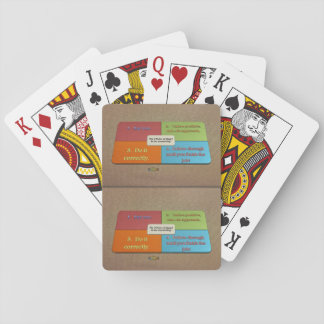 6th Quote; The 4 Rules of How to do Something Playing Cards