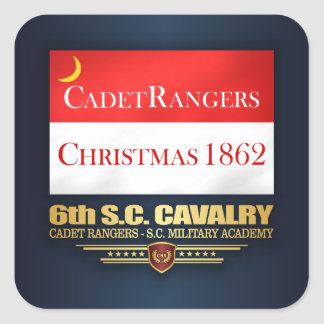 6th SC Cavalry (Cadet Rangers) Square Sticker