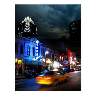 6th Street Downtown Austin Texas Postcard