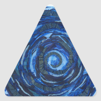 6th-Third Eye Chakra Indigo Artwork #2 Triangle Sticker