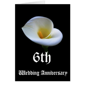6th wedding anniversary card - Lily