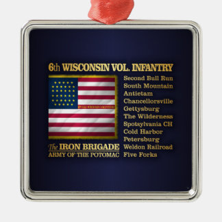 6th Wisconsin Volunteer Infantry (BH) Metal Ornament