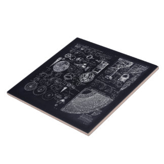 """6X6"""" Table of Astronomy Ceramic Tile"""