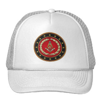 [700] Masonic Square and Compasses [3rd Degree] Mesh Hat
