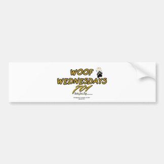 701 WOOF WEDNESDAY BUMPER STICKER