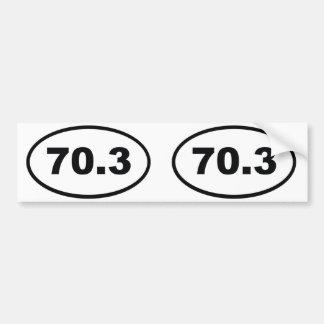70,3 milles de demi de triathlon autocollant de voiture