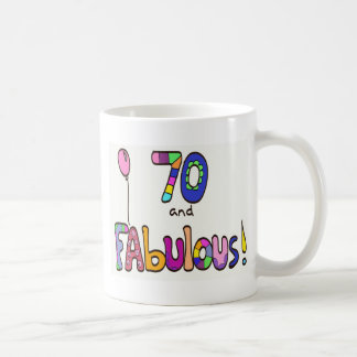 70 and Fabulous 70th Birthday Coffee Mug