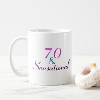 70 and Sensational 70th Birthday Classy Gift Coffee Mug