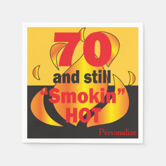 70 and Still Smokin Hot | 70th Birthday Paper Napkins