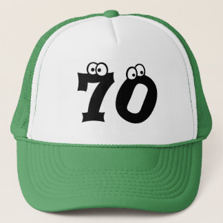 70 Birthday Age Numbers Cool Trucker Hat
