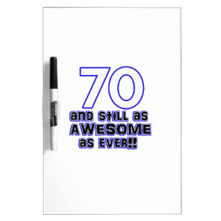 70 birthday design dry erase board