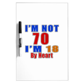 70 Birthday Designs Dry Erase Whiteboards