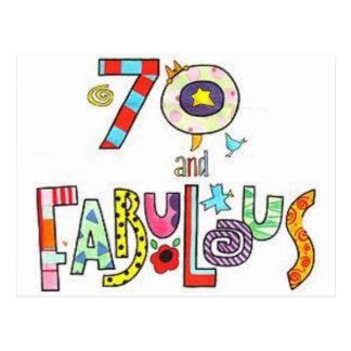 70 & Fabulous - Happy 70th Birthday Postcard