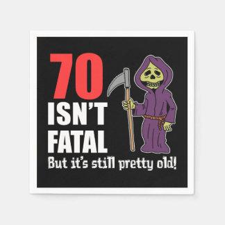 70 Isn't Fatal But Still Old Grim Reaper Disposable Napkin