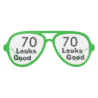 70 Looks Good © Funny 70th Birthday Gag Gift Party Shades