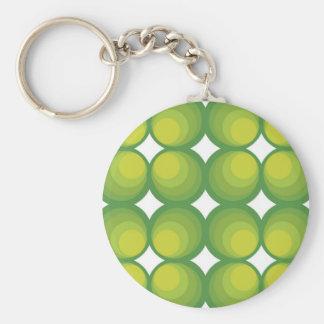 70 ' s years green circle rows… keychain