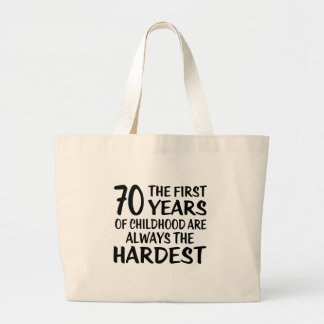 70 The First  Years Birthday Designs Large Tote Bag