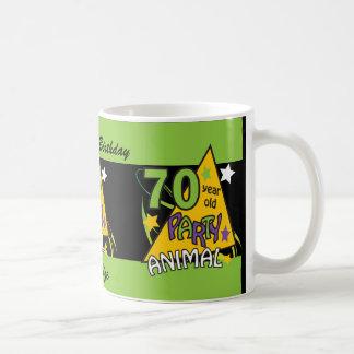 70 Year Old Party Animal Personalize Birthday Mug