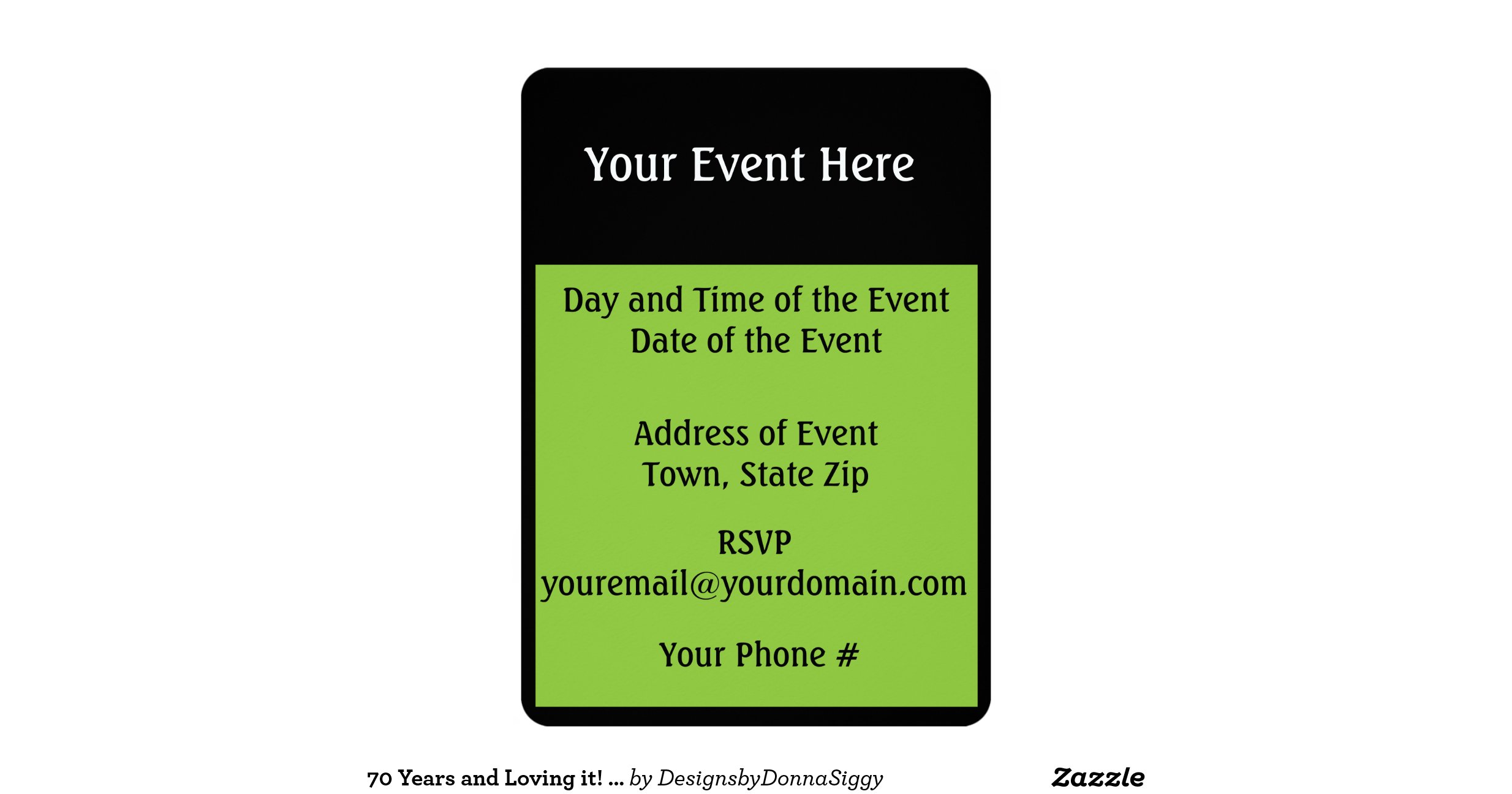 70 years and loving it 5 x 7 invitation card zazzle for Home landscape design premium 17 5