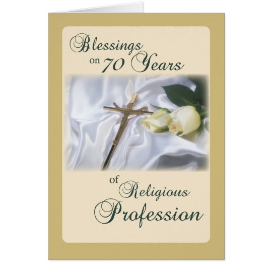 70 Years of Religious Profession for Nun Anniversa Card