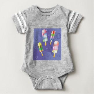 70Ice Cream _rasterized Baby Bodysuit