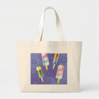 70Ice Cream _rasterized Large Tote Bag