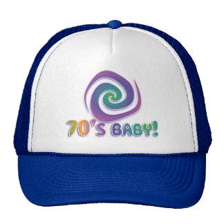 70's baby GROOVY! with swirl Trucker Hat