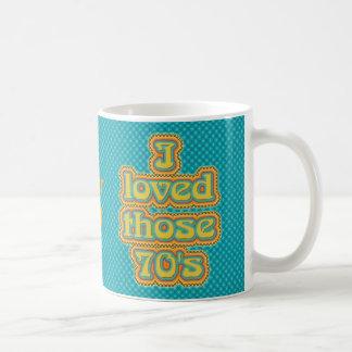 70's basic white mug