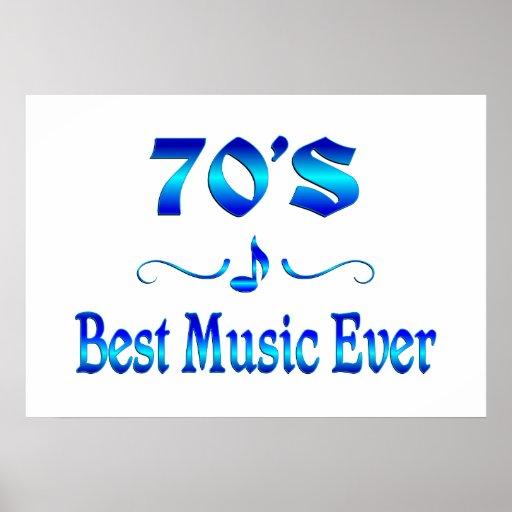 70s Best Music Print