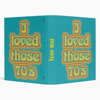 70's vinyl binder