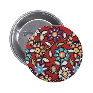 70's flower power hippie button