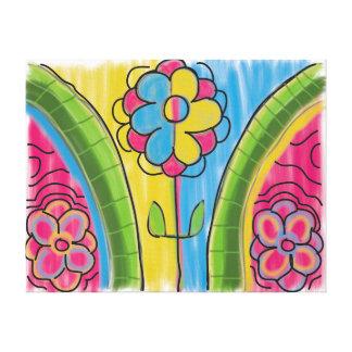 '70's flowers' 22x17 Premium Canvas (Gloss)