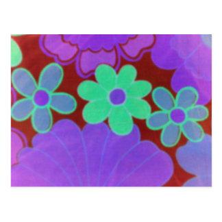 70's Glow Retro Flower's Postcard