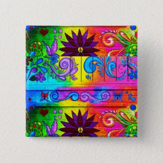 70's groovy hippie button