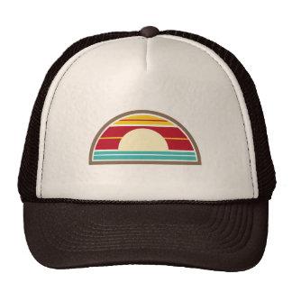 70s Inspired Beach Sunset Hat