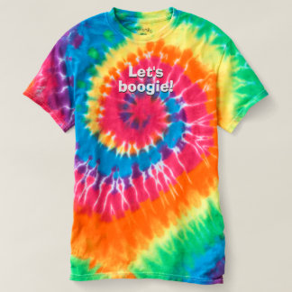 70s Inspired Let's Boogie TShirt Colorful Retro