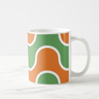 70's Lava Orange Green Groovy Coffee Mug